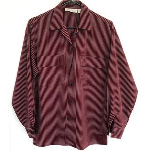 Vintage Striped Long Sleeve Button down Shirt